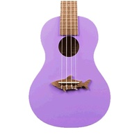 Kala Makala Shark Series Sporano Ukulele Purple Gloss with Bag