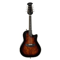Ovation Pro Series Mandolin - Okuome Feather Tobacco Burst – Layered Exotic Wood