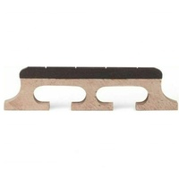 4-String Banjo Bridge Maple with Notched Ebony Top - Height 5/8""