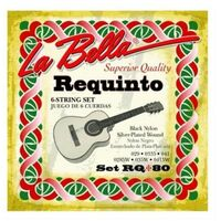 La Bella RQ80 Requinto Strings Black Nylon Silver Plated Wound 6 String Set