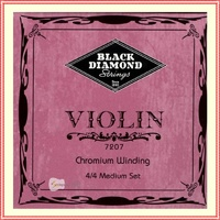 Black Diamond Vintage 4/4 Violin Strings N7207 CHROMIUM Winding