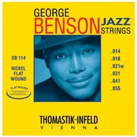 Thomastik-Infeld GB114 Jazz Guitar Strings: George Benson  - Nickel Flatwound