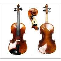 Concert Series 3/4 Violin Labeled Sandner Germany CV-6 Aubert bridge Oil Varnish