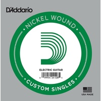 1 x D'Addario NW028 Single Nickel Wound .028 Electric Guitar String Custom Gauge