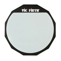 "Vic Firth Single-sided Practice Pad - 12""  - PAD12 - with Soft Rubber Surface"