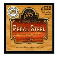 GHS PF500 Pedal Guitar Steel Pure Nickel Rollerwound E9th Strings Set 12 - 36
