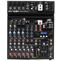 Peavey PV 10 BT  10 Channel Analog Mixer with Bluetooth Connectivity