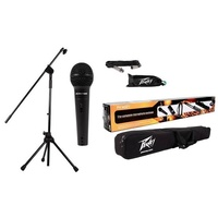 Peavey PVi2 Microphone & Boom Mic Stand Package with Cable and carry bag