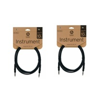 "2 x D'addario Planet Waves 10ft Classic Series 1/4"" Instrument Cable  Straight"
