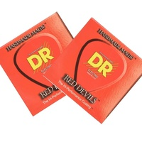 2 x DR Strings RDE-10 Medium Red Devils Electric Guitar Strings 10 - 46