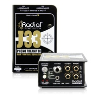 Radial J33 2-channel Active Turntable Preamp/Direct Box Ex Demo Unit
