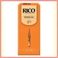 Rico Soprano Saxophone Reeds, 25 Pack  Strength 1 1/2