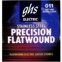 GHS 800 Precision Flats Flatwound Extra Light Electric Guitar Strings 11 - 46