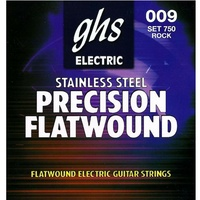GHS 750 Precision Flats Flatwound Rock  Electric Guitar Strings 09 - 42