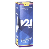 Vandoren SR8225 Tenor Saxophone Reeds V21 Box of 5 Strength 2.5
