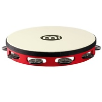 Meinl Percussion TAH1BK-R-TF Touring 10-Inch Wood Tambourine with Synthetic Head