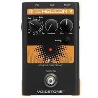 TC Helicon Voicetone E1 - Single-Button Stompbox for Compelling Vocal Echo Effects
