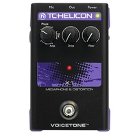 TC Helicon Voicetone X1 - Single-Button Stompbox for Dramatic Megaphone and Distortion Vocal Effects