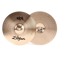 "Zildjian 14"" ZBT Hi-hat Cymbals Pair Sheet Bronze with Traditional Finish"