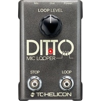 TC Helicon Ditto Mic Looper Vocal Effects Pedal Ex Demo with Full warranty