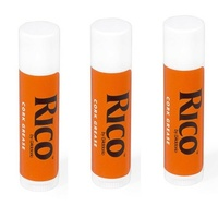 Rico Premium Woodwind Cork Grease for clarinet Saxophone Oboe Bassoon 3 Pack