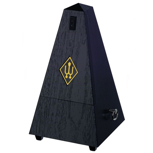 Wittner 855161 Maelzel Pyramid Metronome with Bell in Simulated Black Wood Grain