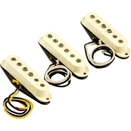 Fender Eric Johnson Stratocaster Guitar Pickup Set, Vintage White